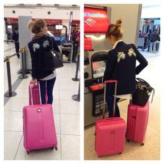 De viaje junto a mis valijas Delsey. Gracias Delsey Argentina