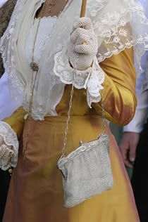 Detail of a traditional Arlesienne outfit (Provence, France)- Arles