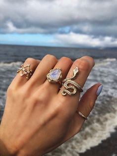 Details about  /Copper Moon Shape Cocktail Ring For Women Gold Jewelry Ethiopian Wedding Gift