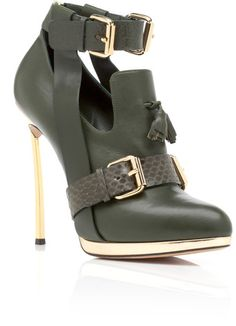 Prabal Gurung Olive High Heel Oxford - Lyst