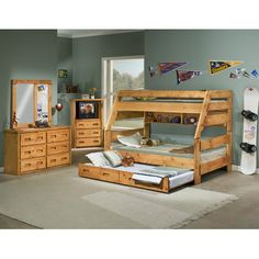Chelsea Home Twin over Full Convertible Toddler Customizable Bedroom Set