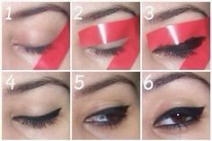 Easiest Way To Do The Winged Eyeliner #Fashion #Beauty #Trusper #Tip
