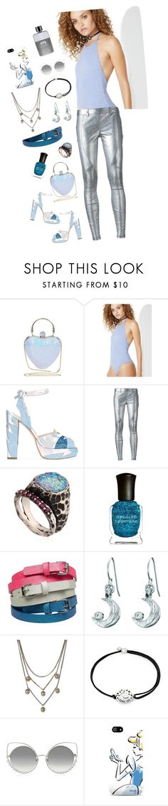 """""""Untitled #1360"""" by dress-n-dysfunktion ❤ liked on Polyvore featuring Motel, Terry de Havilland, Faith Connexion, Voodoo Jewels, Deborah Lippmann, Chupi, Alexander McQueen, Alex and Ani, Marc Jacobs and Gucci"""
