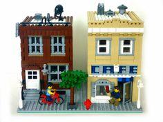 Lego MOC modular houses