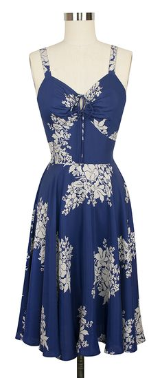 The newest Trashy Diva L'Amour Dress comes in Blue Hawaii and features a keyhole cutout and tie front!