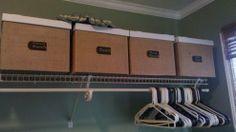 DIY BURLAP COVERED STORAGE BOXES
