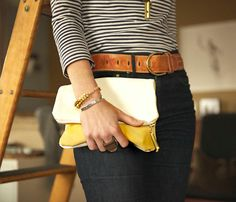 Leather Clutch by BTWN WIND and WATER