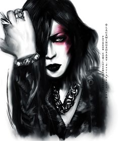 Ruki-sama Visual[KOLOR], LaceWingedSaby サビのレースの翼 on ArtStation at https://www.artstation.com/artwork/egoA3 #ruki #thegazette #portrait #visualkei #poster #painting #sumie #artworks #fanart #lacewingesaby