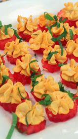 Inspired By eRecipeCards: Watermelon Cookie with Spicy Sweet Mascarpone Icing and Mint - 52 Church PotLuck Appetizers