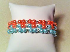 """Bracelet """" les perles bleues """" : Bracelet par les-breloques-de-bel"""