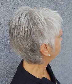 Choppy Salt And Pepper Pixie Mom Hairstyles, Short Hairstyles For Women, Straight Hairstyles, Office Hairstyles, Anime Hairstyles, Stylish Hairstyles, Hairstyles Videos, Hairstyle Short, Hair Updo
