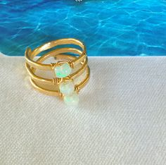 Hana, Maui Liquid Sunshine Jewelry Opal Coil Ring