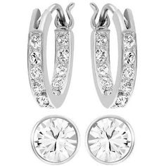 Pre-owned Swarovski Canvas Pierced Earrings Set - 5113770 ($62) ❤ liked on Polyvore