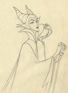 Marc Davis design for Maleficent from Sleeping Beauty
