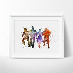 - Description - Specs - Processing + Shipping - Created in an impressionistic + splattered watercolor style, this high quality art print will make those walls pop! This is a handmade print and artisti