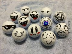 This is how I mark my golf balls so everyone knows they're mine