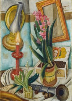 "Max Beckmann (1884-1950) - ""Stillleben mit brennender Kerze"" (Still life with burning candle), 1921"