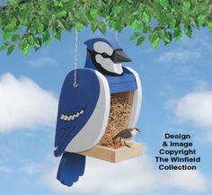 Blue Jay Bird Feeder Pattern