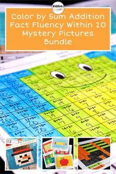Coloring is one of my first grade kids favorite activities. These mystery pictures give my students the coloring fun they want along with the addition fact practice they need. Solving addition problems to complete mystery pictures helps them develop fact fluency through repetition. My students need to practice their addition within 20 throughout the school year. This pack includes mystery pictures from a variety of themes including: Back to School, Animals, Christmas, Halloween, and Summer. Addition Facts, Addition And Subtraction, Math Fact Fluency, Class Activities, Math Facts, Math Centers, Crayons, Mystery, Coloring