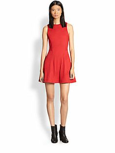 Rag & Bone Geneva Wave-Textured Fit-and-Flare Dress