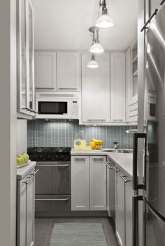 Before & After: Bright and Tiny Studio Kitchen | Kitchn