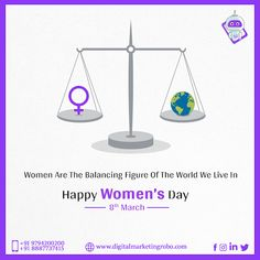 """For the wonder called """"Woman"""" a salute to your existence that creates, nurtures and sustains beautifully… Happy Women's Day! Women's Day 8 March, 8th Of March, Happy Women, Ladies Day, Digital Marketing, Woman, Create, Beauty, Women"""