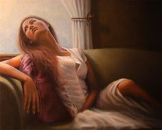 """Painting : """"Longing"""" (Original art by Christina Ramos) Painting People, Woman Painting, Painting Art, Christina Ramos, Original Art, Original Paintings, Learn To Paint, Female Images, Black Art"""