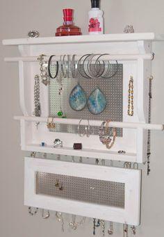 Jewelry Organizer LARGE Wall Mounted Jewelry Holder by MrandMissis