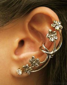 New Vintage Exaggerated Flower Single Clip