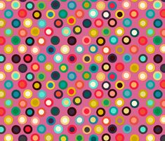 pink pop spot fabric by scrummy on Spoonflower - custom fabric
