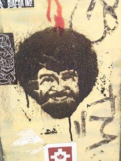 Bob Ross! ATX street art.
