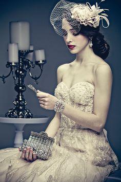 Maria Elena Headpieces embellished bridal clutch