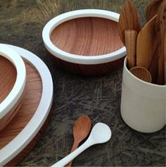 Corian® bowls handcrafted in Melbourne by Anthony Kleine. Via Antler and Moss