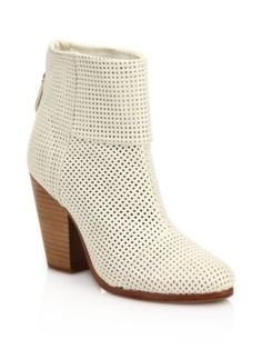 4756757bfb7d Rag   Bone - Classic Newbury Perforated Leather Boots White Leather Boots
