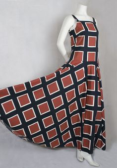Marimekko cotton dress, c.1971, from the Vintage Textile archives.