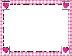 Free Printable Wedding Frames or Borders with Hearts in Pink. Borders For Paper, Borders And Frames, Preschool Printables, Free Printables, Alphabet Tracing Worksheets, School Frame, Cute Frames, Diy Calendar, Planning And Organizing
