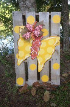 Butterfly Door Hanger by WhimsyGirlArt on Etsy, $38.00