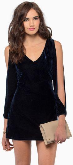 TOBI Wicked Ways Velour Dress - Lyst