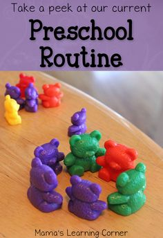 Take a peek at our current homeschool preschool routine!  Find some new-to-you ideas for your littlest learners!