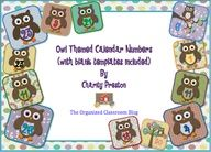 Over 70 pages!  Includes a different owl-themed calendar number template for every month, already numbered from 1-31.  Also includes 1 blank template for each month so you can customize birthdays or special events in your classroom!  http://theorganizedclassroomblog.com/index.php/ocb-store/view_document/175-owl-theme-calendar-numbers-for-every-month $1