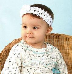 Bandeau fleuri pour fillette et sa grille gratuite ! - Modèles pour Bébé au Crochet