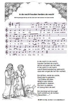 In de nacht houden herders de wacht NB Het gezongen lied op de You Tube komt niet overeen met deze notatie en tekst