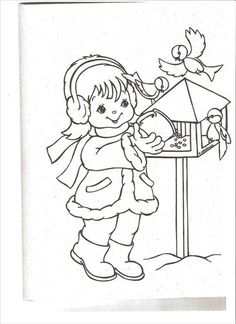 Christmas Pictures To Color, Christmas Colors, Christmas Coloring Pages, Coloring Book Pages, Colorful Pictures, Candy Cane, Mandala, Birds, Drawings