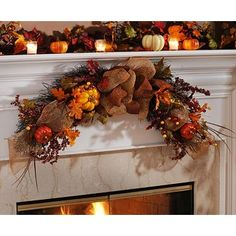 We think this is so beautiful! Add a harvest-themed accent to any surface in your home with this Glitter Pumpkin Swag Garland, featuring warm and welcoming autumn colors! (And of course - glittered pumpkins!) #kirklands #harvest