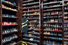 When you're a globe-trotting Christian Dior P.R. executive, you have a shoe collection to prove it--the dressing room in Mathilde Favier-Meyer's Paris apartment contains more than 400 pairs.0 Unbelievable Dream Closets�|�Architectural Digest