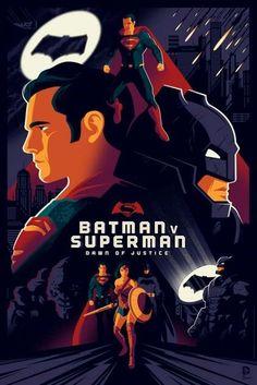 Tom Whalen Batman V Superman Dawn of Justice Movie Poster Release From Dark Hall Mansion Batman Vs Superman, Superman Dawn Of Justice, Batman Suit, Tom Whalen, Dc Comics Superheroes, Fun Comics, Marvel Dc Comics, Wallpaper Do Superman, Comics