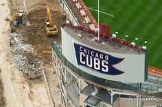 Wrigley field renovations, taken by  Nick Ulivieri