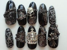 Just a cool set of rock/VK nails I came across a while back. Don't remember from where though. :(