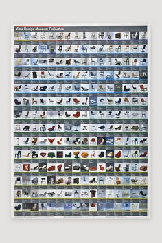 Chair Poster 2006 by Mandel & Churner for the Vitra Design Museum sold by the modern archive