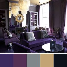 i\'m in love with this purple sofa!! @ Rulph benz\'s design   Purple ...